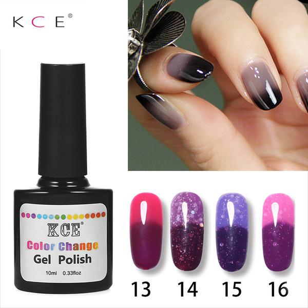 KCE 18Colors Mode féminine UV / lampe LED Nail Polish température Changement ongles couleur UV Gel Soak Off art gel