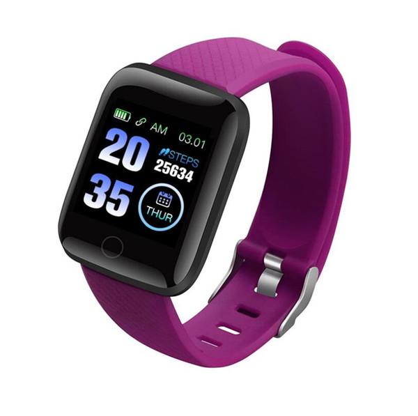 Smart Montre HOT 116plus 1,3 pouces écran couleur de fréquence cardiaque sommeil de pression artérielle Étape étanche contre Bluetooth Sport Montre POUR: IPHONE