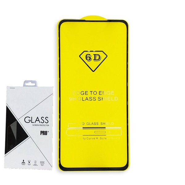 Full Cover 6D 9D Tempered Glass Screen Protector AB Glue FOR HUAWEI P20 LITE P20 PRO MATE 20 honor 20I 100PCS RETAIL PACKAGE