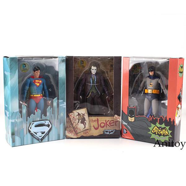 Neca Dc Comics Superman Vs. Batman Joker 1/8 Scale Painted Pvc Action Figure Collectible Model Toy 18cm Kt2187 Y190604