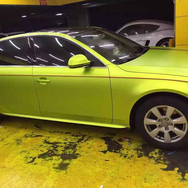 2019 Fluorescent Green Vinyl Wrap Car Wrap Film Custom Car Vinyl