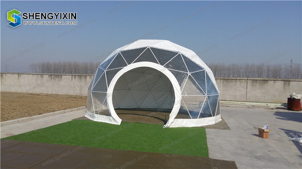 finest selection d08ca cf724 Factory Supplier Soundproof Large Party Aluminum Event Geodesic Dome Tent  With Half Transparent PVC For Outdoor Cat Shelters Shelter Dogs From ...