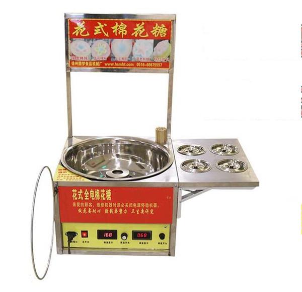 Machine commerciale de fabricant de sucrerie de coton de 220v à vendre machine fantaisie de sucrerie de coton de fleur électrique de fabricant de barbe à papa