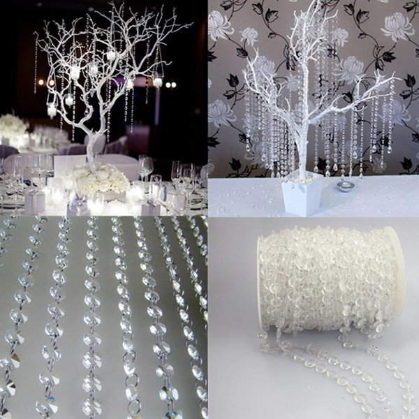30 Meter Acrylic Crystal Bead Curtain Garland Diamond Acrylic Crystal Bead Curtain Wedding Decoration DIY Party Decoration