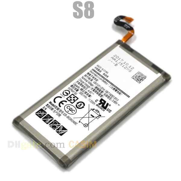 For Samsung Galaxy S8 Battery EB-BG950ABE 3000mAh High Capacity Built-in Replacement Galaxy S8 Cell Phone Batterie Akku