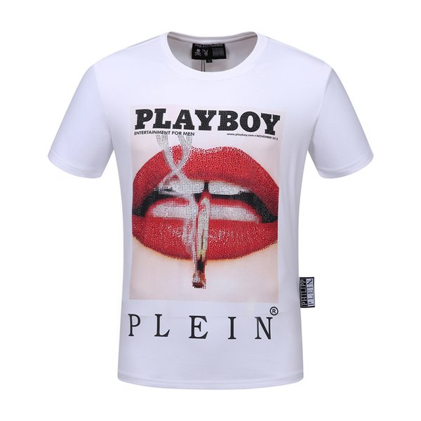 19SS Fashion summer T-shirt mix cotton small round collar top quality men's design T-shirt casual women's clothing free shipping 2F