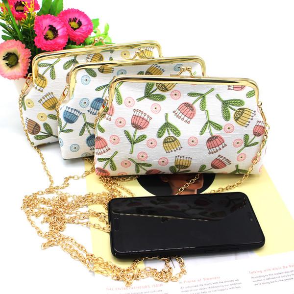 NICOLE & CO 2019New Women Cotton Fabric Coin Purse Messenger Chain Phone Bag Card Wallet Change Purse For Girl Original Coin Bag