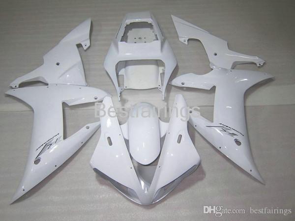 100% Fitment. Free custom Injection molding fairing kit for YAMAHA R1 2002 2003 white fairings YZF R1 02 03 KL89