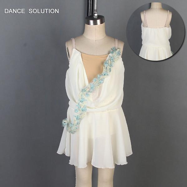 Ivory Spandex Bodice Chiffon Ballet Dress dance costumes ballet wear Women & Girl Costumes Dancewear Tutu