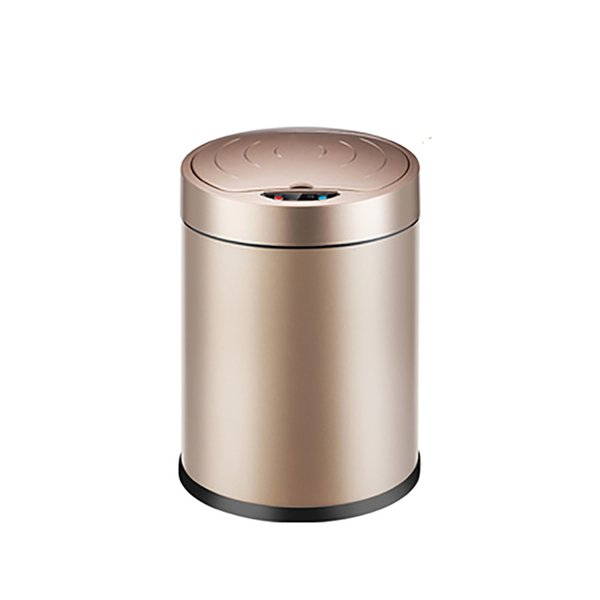 12L Automatic Trash Can Touchless Intelligent Induction Garbage Bin With Inner Bucket Contactless Circulator Quiet Lid Close Can Silver
