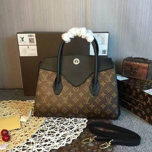 M42269 Black Женщины моды сумки на ремне сумки Хобо сумки Top Ручки Cross Body плеча посыльного сумки