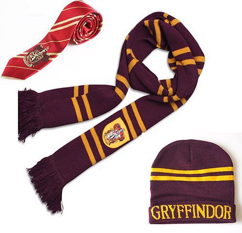 Harri Potter Eşarp Atkılar Şapka Dokunmatik Eldiven Gryffindor / Slytherin / Hufflepuff / Ravenclaw Şapka Dokunmatik Eldiven Eşarp Hediye