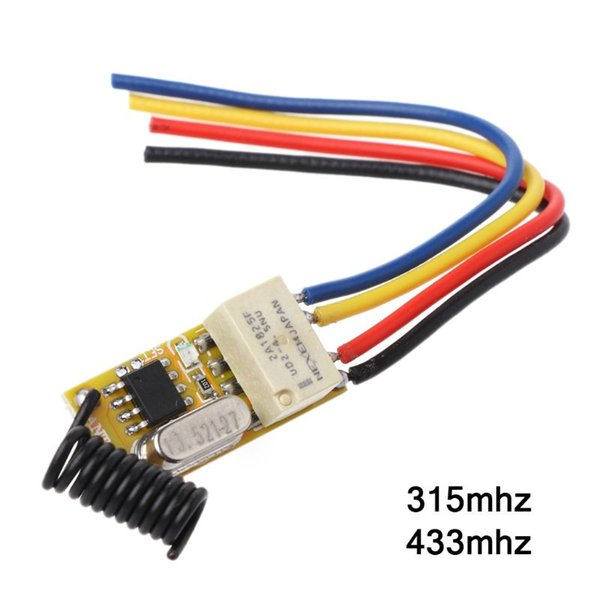 Interruttore remoto relè DC3.7V 4.2V 5V 6V 7.4V 8.4V 9V 12V Uscita 0V Valore di commutazione relè contatto a secco NO COM NC 315 MHz 433 MHz