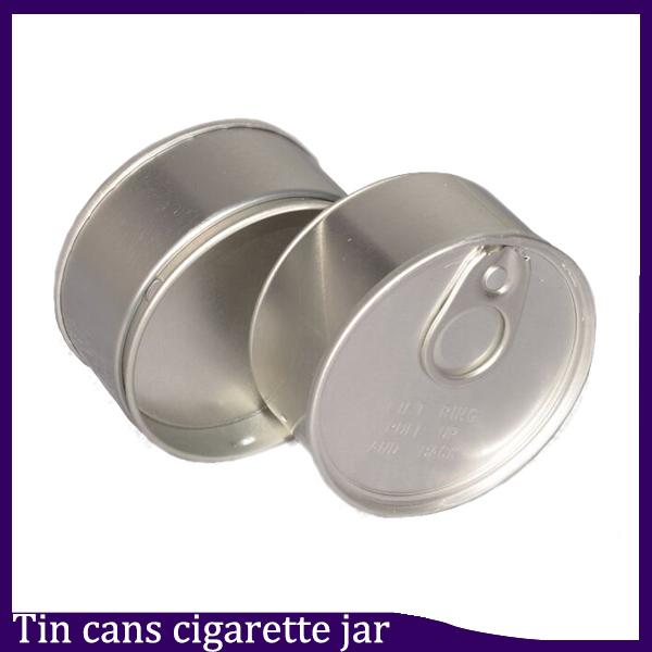 Tin Cans cigarette jar Pre Sealed Sealing Lid Cover for Dry Herb Flowers Pressed Top & Bottom for Custom design OEM 0266305-1