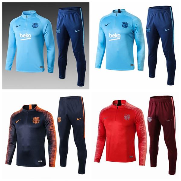 2019-20 Barcelona Messi Griezmann giacca Rakitic Coutinho pre-match tute calcio MAILLOT DE FOOT maglia allenamento # 561299