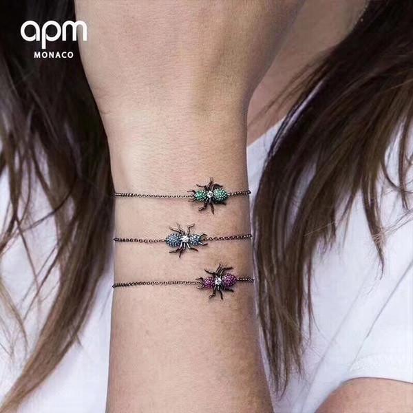 Bracelet Femme 2019 Mode Argent Cristal Diamant Ant Bracelet Femme Bijoux Simples