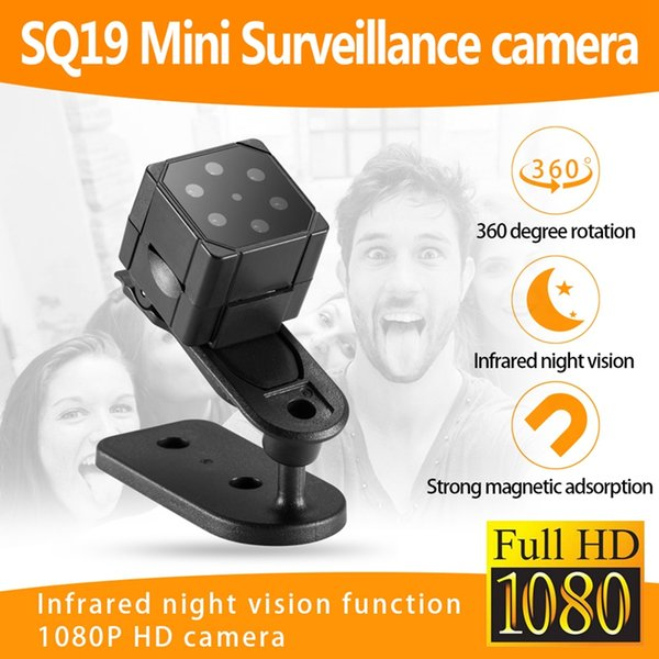 SQ19 Mini Camera Micro Video Camera HD 1080P Sensor Night Vision Camcorder DVR DV Motion Recorder Camcorder Support 32GB TF Card
