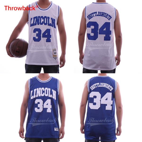 Jesus Shuttlesworth #34 Lincoln He Got Game Basketball Jersey White Ray Allen