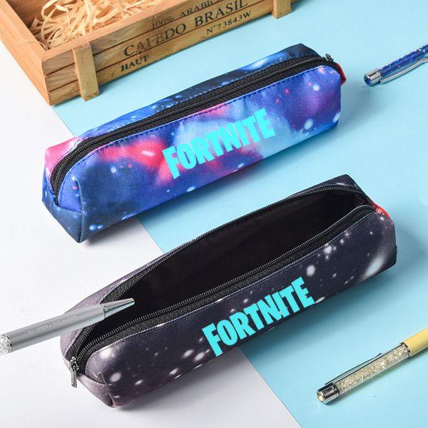 Galaxy Wallet Pencil Bag Cartoon Student Pencil Cases Stationery Luminous Storage Bag Kids Purse Handbags 30pcs