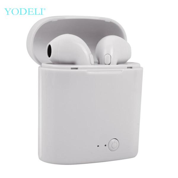 Auricolari Bluetooth i7s Tws Mini Auricolari wireless Sport Auricolare vivavoce Auricolare senza fili con scatola di ricarica per telefono Xiaomi