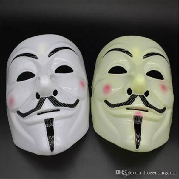 V Maschera Mascherata Maschere per Vendetta Anonimo Valentine Ball Party Decoration Full Face Halloween Super Scary Party Mask 2017092112