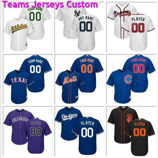 Custom Mens Baseball Jersey Colorado Rockies Houston Astros Washington Nationals Los Angeles Dodgers Atlanta Official cool base jerseys team