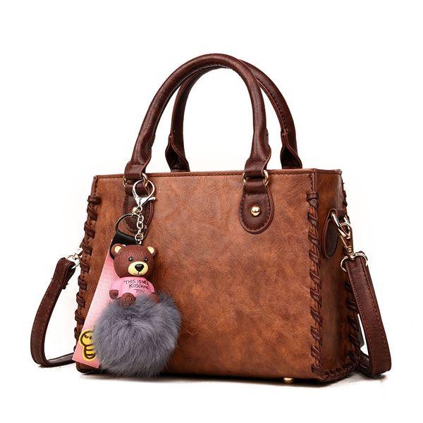 2019 Fashion 2018 New Arrival Women Leather Handbag Shoulder Bag Tote Purse Vintage Fashion Ladies Hand Bags Woman Sac A Main Femme