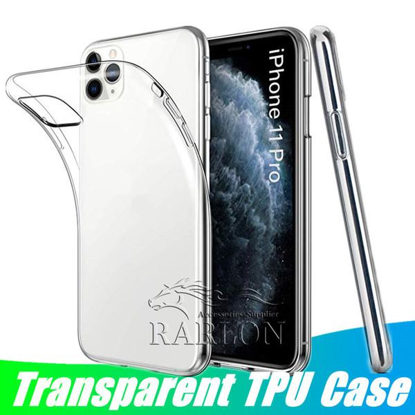 TPU Soft Case Gel Crystal Case Casos de telefone ultra fino transparente para iPhone 11 Pro Max Xs Max XR X 8 Plus Samsung Galaxy S10 Plus Nota 10
