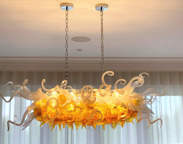 Modern Chandelier Custom Hand Blown Glass Crystal Chandelier Lighting Living Room Bedroom LED Hanging Pendant Light Fixtures