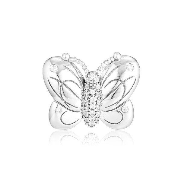 Decorative Butterfly Charm For Original Bracelets Sterling Silver jewelry Beads For Jewelry Making Fashion Woman Beads