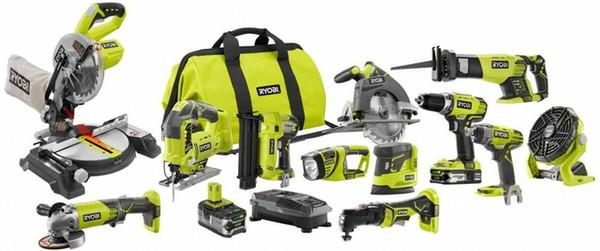 RYOBI Combo Kit Reciprocating Saw Impact Drill Driver Batteries Cordless 12-TOOL*