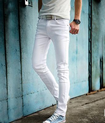 Haute Qualité 2019 Mode Slim Homme Blanc Jeans Pantalons pour hommes Pantalons Décontractés Skinny Crayon Pantalon Garçons Hip Hop pantalon homme