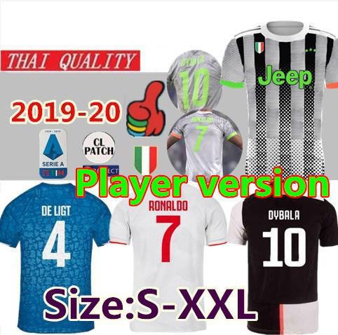 Fanlar Player sürüm 2019 2020 dördüncü RONALDO SARAYI futbol forması thai kalite 19 20 DE ligt DYBALA Futbol Maillot Futbol Gömlek boyutu S-2XL