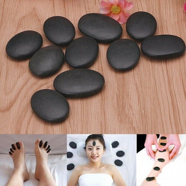 Natural Basalt Massage Stone Health Care Black Hot SPA Rocks Pain Relief Energy Massage Stones Rocks WWA250