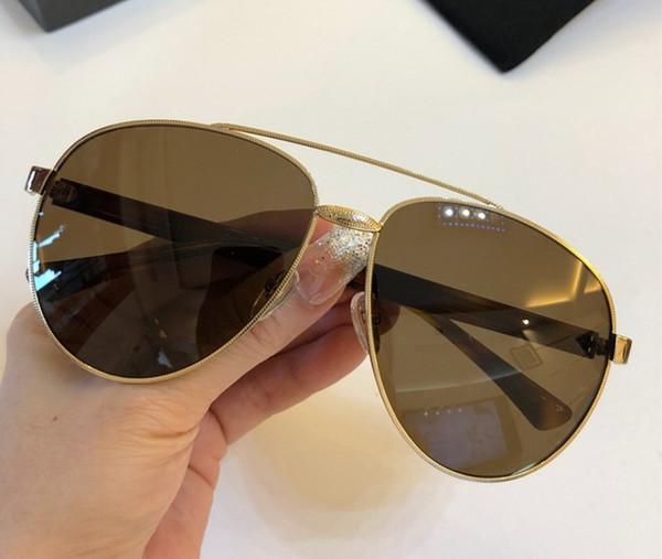 Womens Man Square Sonnenbrillen Schwarz / Goldrahmen Gold Verspiegelte Gläser MODE MARKENSONNENBRILLEN Mit original Tasche NUMGG181227-20