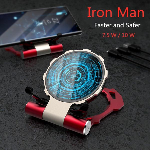 Iron Man Apple XR wireless charger fast charging board xsmax mobile i8p Huawei Mat 20pro universal 8 plus millet magic array bracke