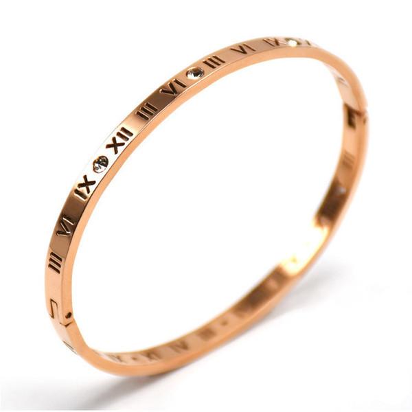 Wholesale Alloy New Jewelry Roman digital bracelet rose gold new style fashion bracelet hot fashion jewelry For Women Men s Fashion Jewelry