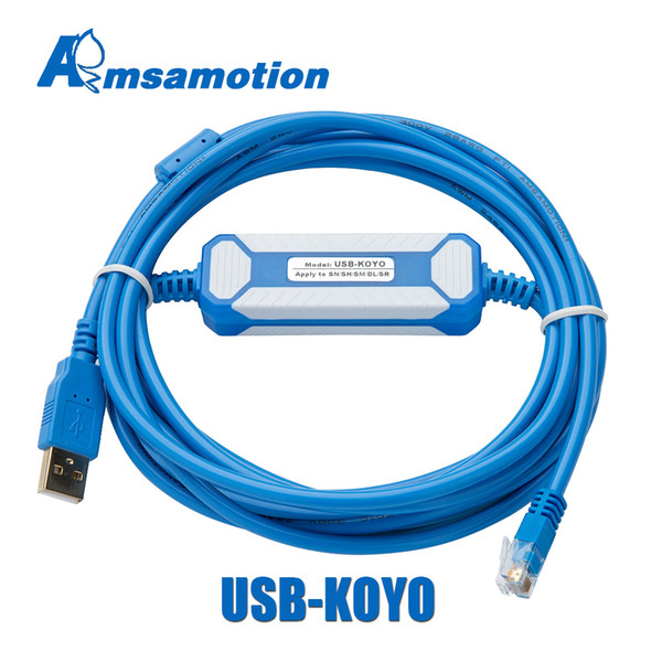 best selling AMSAMOTION Upgrade Cable D2-DSCBL-USB Suitable KOYO USB Series DirectLOGIC PLC Programming Cable