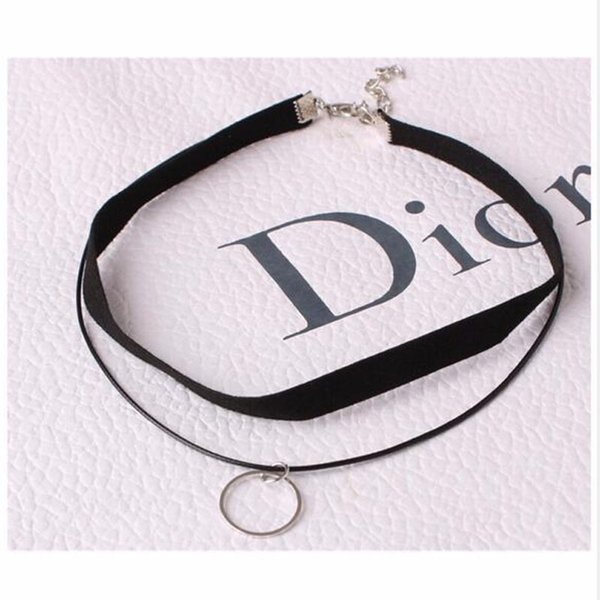 New Styles Simple leather rope Collares Joker double simple clavicle chain fashion short necklace ornaments For Women Jewelry