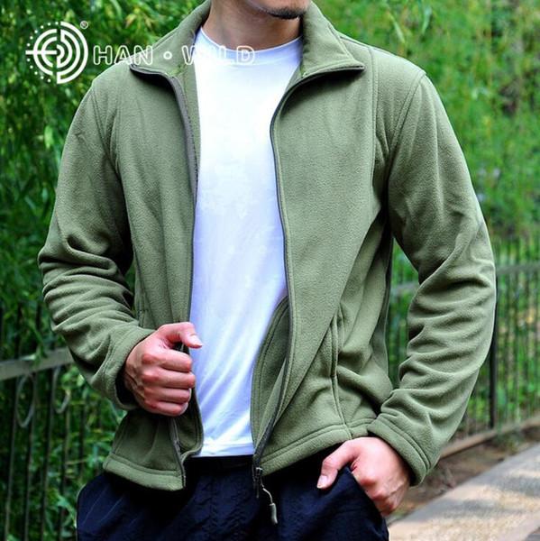 Uomini escursioni Giacche cappotto tattico Fleece Jacket Uomini Uniforme Soft Shell Jacket casual Army termica Abbigliamento vendite
