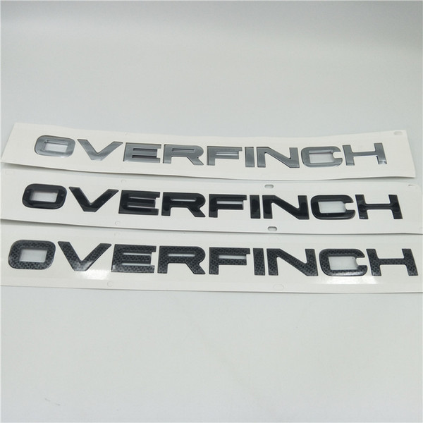 JDM Car Stickers And Decals Carbon Fiber Letters Emblem Badge Logo Rear Trunk Sticker Black For Land Rover Range Rover OVERFINCH