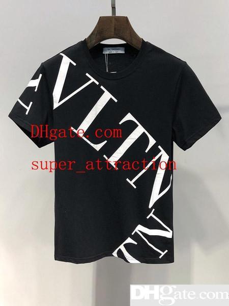 2019 été nouveaux hommes t-shirt de mode t-shirt à manches courtes été t-shirt hommes occasionnels t-shirt de haute qualité top Europe et Amérique t-shirt D227