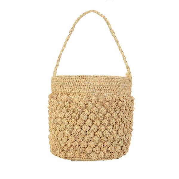 Arpimala French Style Bucket Bag Fashion Straw Bag For Women Popular Beach Bag Summer Woven Tote Ladies Cute Travel Clutch Y19061204