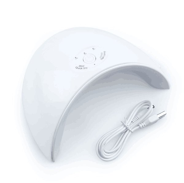 New 36W UV Led Lamp Nail Dryer For All Types Gel 12 Leds UV Lamp for Nail Machine Curing 30s/60s/120s Timer USB Connector