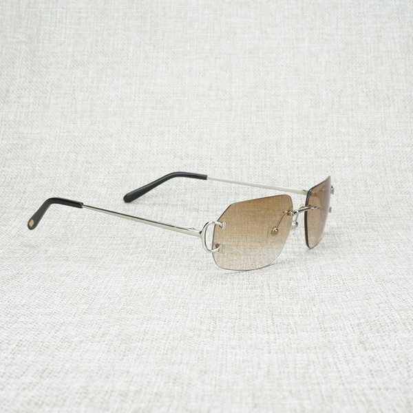 silver frame brown