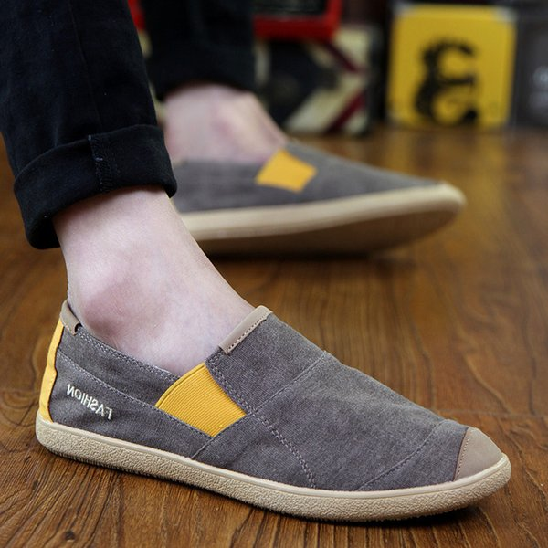 Hot2019 Hombre Temporada Lienzo Trend One Pedal Dawdler Shoes Old Beijing Cloth Joker Tiempo libre Zapato masculino