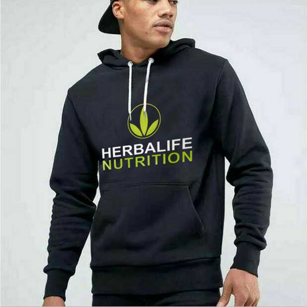 2018 Herbalife nutrizione Stampato Hoody Uomini Donne Green Logo Herbalife Graphic cappuccio giacche sportive Cappotti Harajuku Sweatershirts