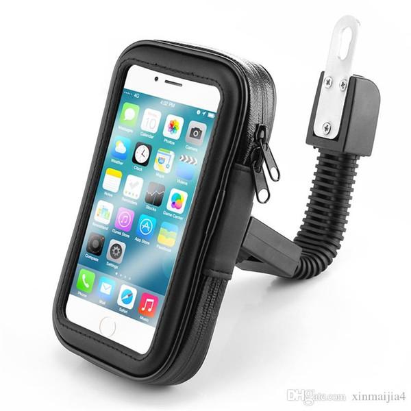 Siyah Motosiklet Bisiklet Scooter Cep Telefonu Tutucu Çanta Standı Kılıf Telefon Akıllı Telefonlar için Destek Braketi Standı