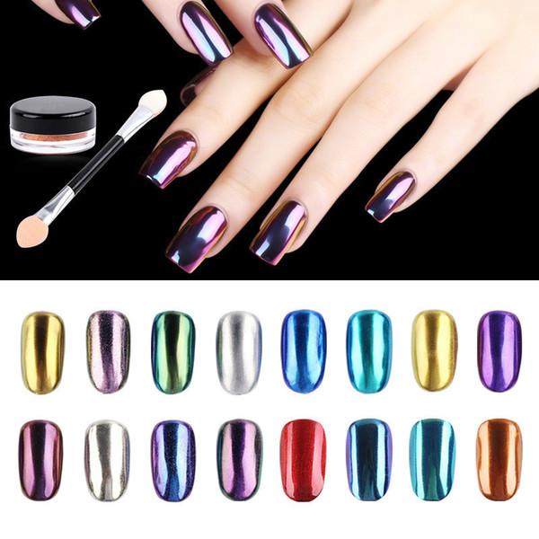 top popular Sellington Nail Polish Glitter Nail Art Flash Dust Shiny Chrome Powder Metal Nail Art Deco Pigment 12 Color SZ300 2020