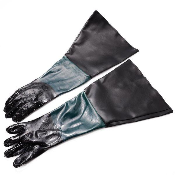 top popular 1 Pair Heavy Duty Gloves Soft PVC Vinyl Sandblasting Gloves 60cm For Sandblaster Sand Blast Cabinet Sandblasting Machine 2020